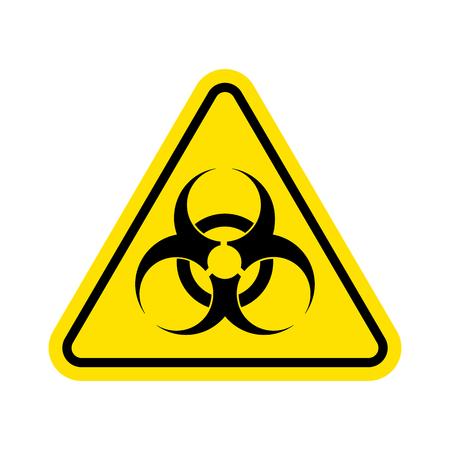 Señal de advertencia de virus. Icono de riesgo biológico. Símbolo de riesgo biológico. aislado sobre fondo blanco Ilustración vectorial Eps 10.