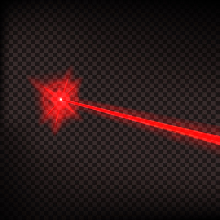Abstract red laser beam.