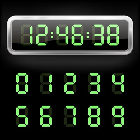デジタルの目覚まし時計。