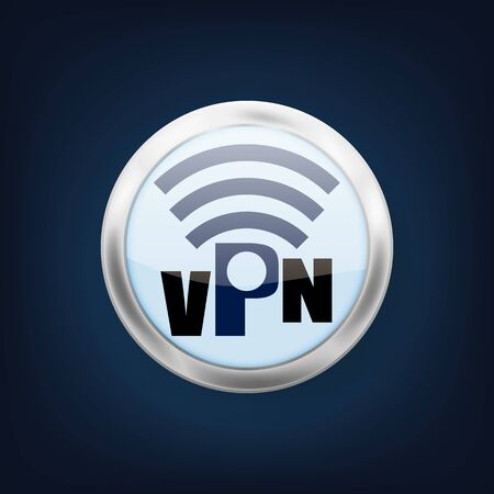 VPN icon. Illustration