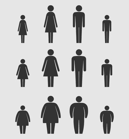 Man, vrouw en kinderen Body Figure