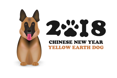 Dog Is Symbol Chinese Zodiac Of New 2018 Year Chinese Calendar