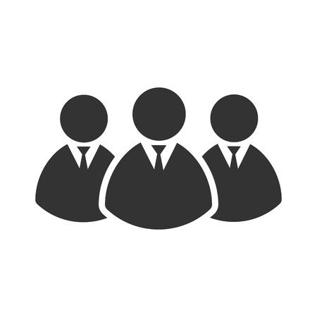 Business Man icon. Vector illustration. Eps 10.