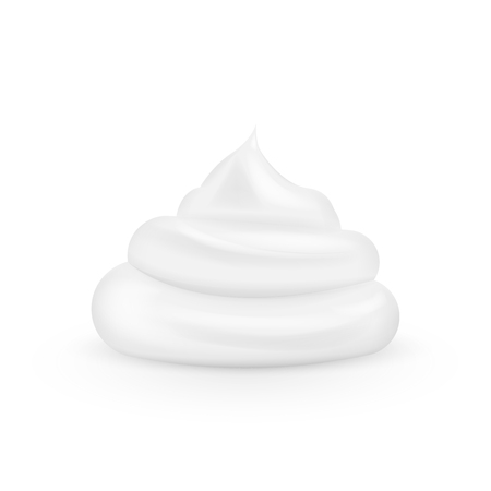 3d realistic Cream isolated on white background. Vector illustration. Eps 10. Ilustração