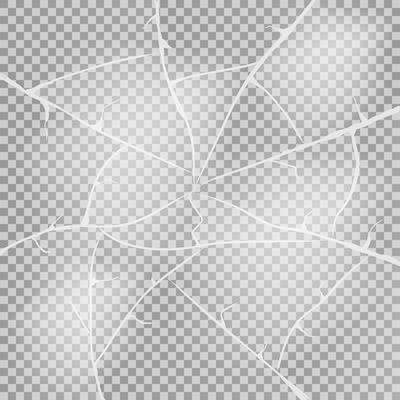Texture of ice surface on transparent background. Vector illustration. Eps 10. Ilustração