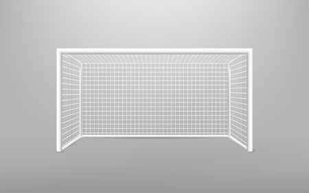 Football soccer goal realistic sports equipment. Football goal with shadow. isolated on transparent background. Vector illustration. Eps 10. Stok Fotoğraf - 102729928