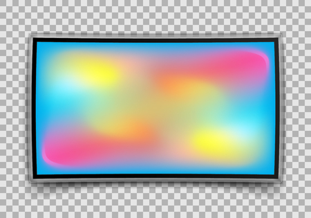 Realistic TV Screen isolated on transparent background. Vector illustration. Eps 10.
