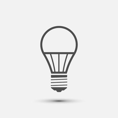 LED-Glühbirne Symbol. Vektorillustration. Eps 10.