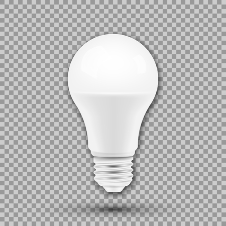 LED light bulb isolated on transparent background. Vector illustration. Eps 10. Иллюстрация