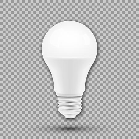 LED light bulb isolated on transparent background. Vector illustration. Eps 10. Illustration