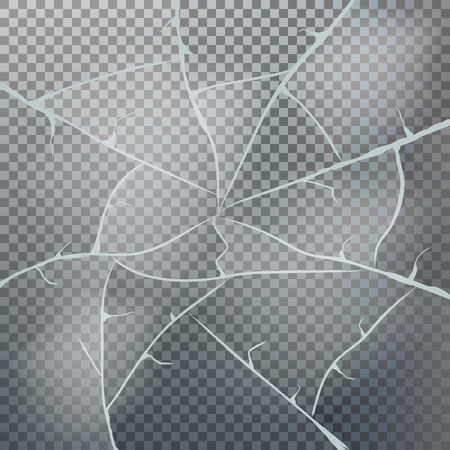 Texture of ice surface on transparent background. Vector illustration. Eps 10. Vectores