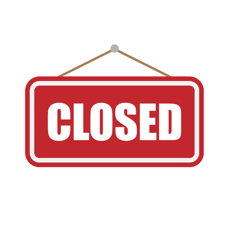 Closed Sign isolated on white background. Vector illustration. Eps 10.