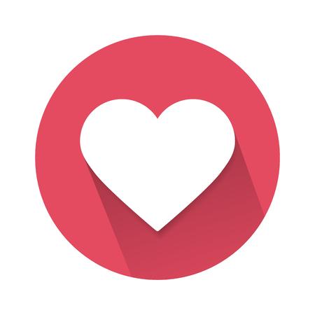 soziale Liebesherzikone lokalisiert auf weißem Hintergrund. Vektorillustration. Eps 10. Vektorgrafik