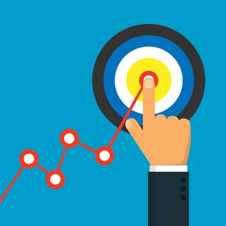 Goal achievement business icon. Vector illustration. Eps 10. Illustration