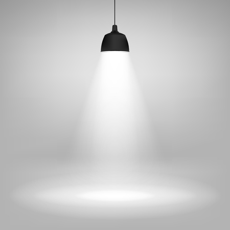 Realistic ceiling lamp. isolated on transparent background. Vector illustration. Eps 10.