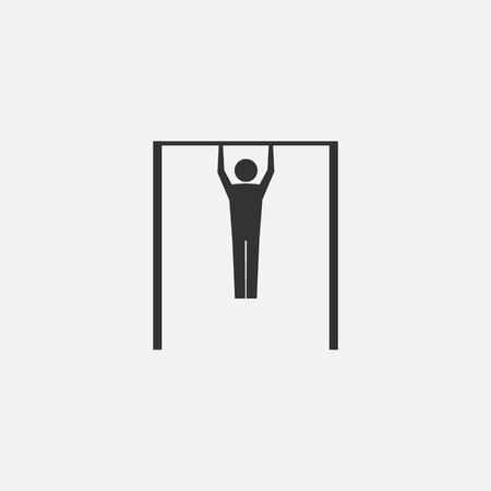 Man doing pull ups. Vector illustration. Eps 10. Illustration