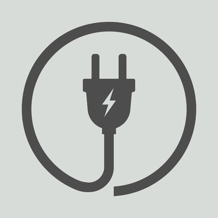 Electric plug icon. Vector illustration. Eps 10.