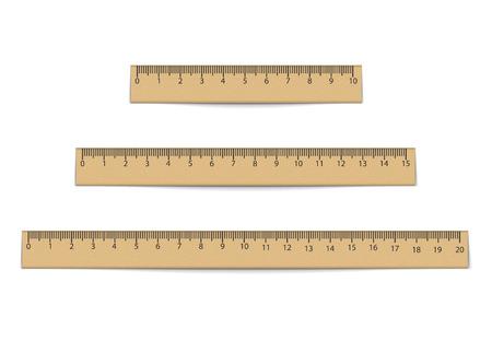 Realistic ruler set isolated on white background. Vector illustration. Eps 10.