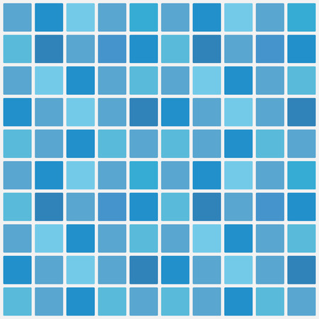 Blue ceramic tile mosaic in swimming pool. Vector illustration. Eps 10. Иллюстрация