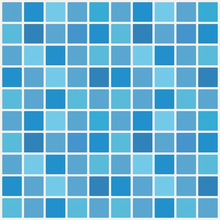 Mosaico de baldosas de cerámica azul en piscina. Ilustración de vector. Eps 10. Ilustración de vector