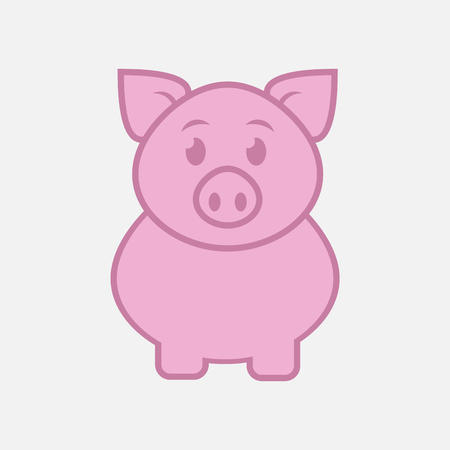 Pig icon isolated on white background. Vector illustration. Eps 10. 向量圖像