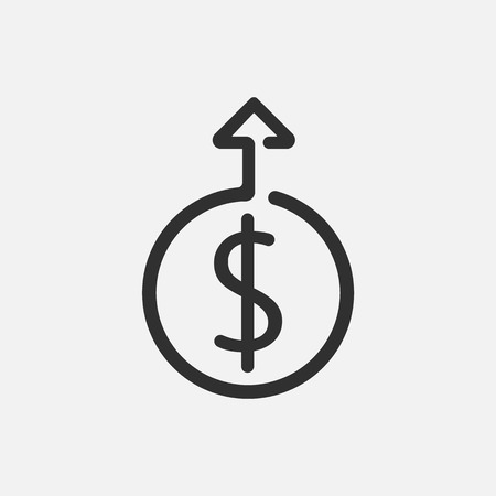 Financial growth icon isolated on white background. Vector illustration. Eps 10.