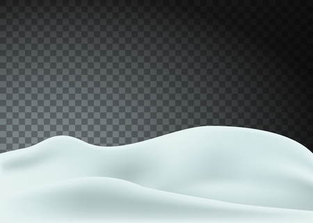 Snowy landscape isolated on transparent background. Vector illustration. Eps 10. Ilustração