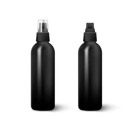 Realistic Cosmetic bottle can sprayer container isolated on white background. Vector illustration. Vector Illustration