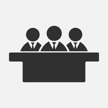 Jurors icon isolated on white background. Vector illustration. Eps 10.