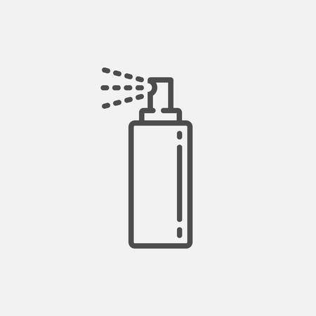 Bottle spray icon isolated on white background. Vector illustration. Eps 10. Imagens - 126507084