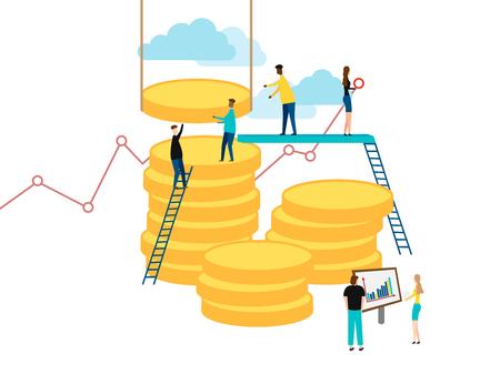 Business finance concept. People job. Vector illustration Eps 10