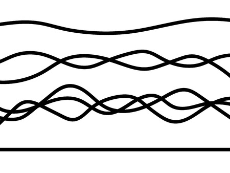 Electrical wires isolated on white background. Vector illustration. Eps 10.