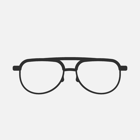 glasses icon isolated on white background. Vector illustration. Иллюстрация