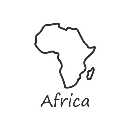 Africa map icon. isolated on white background. Vector illustration. Eps 10