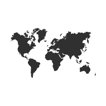 icona della mappa del mondo mappa. isolato su sfondo bianco. Illustrazione vettoriale. Eps 10 Vettoriali