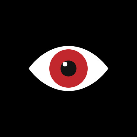 Eye iconisolated on black background. Vector illustration. Eps 10 Banque d'images - 122614318