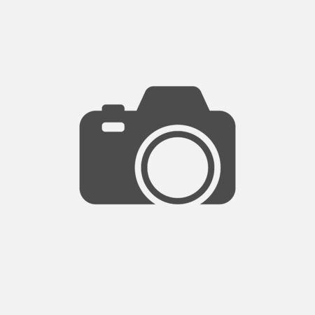 Camera icon isolated on white background.