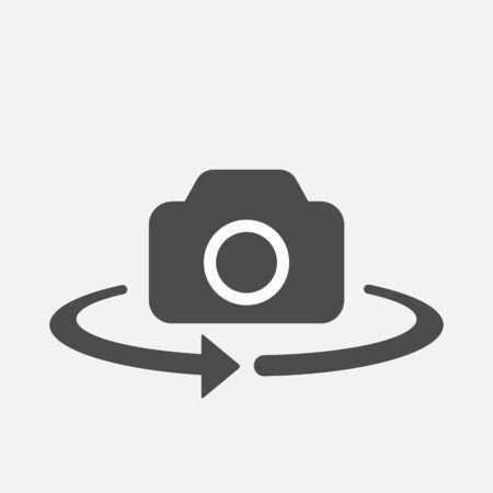 Camera switch isolated on white background.