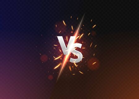 Versus vs background. versus logo vs letters for sports and fight competition.