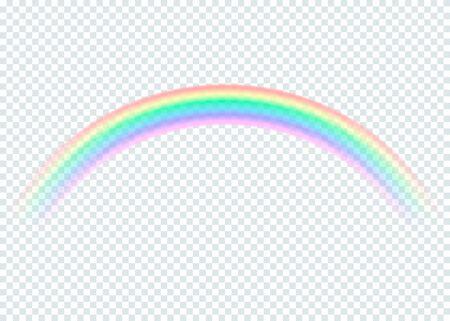 transparent rainbow. isolated on transparent background. Vector illustration.