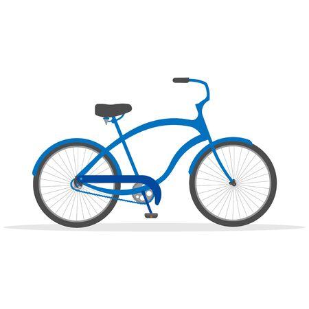 Bike isolated on white background. Ilustração