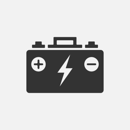 accumulator simple icon, battery symbol isolated on white background. Vector illustration. Eps 10