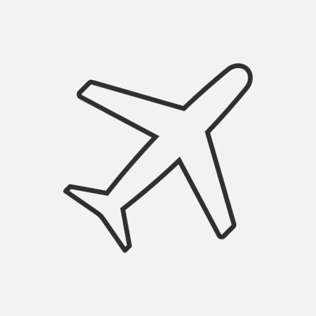 Airplane icon isolated on white background. Vector illustration. Eps 10. Ilustração