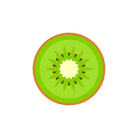 Kiwi isolated on white background. Vector illustration. Eps 10.
