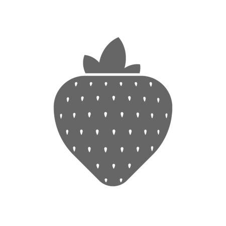 Strawberryisolated on white background. Vector illustration. Eps 10 Stock Illustratie