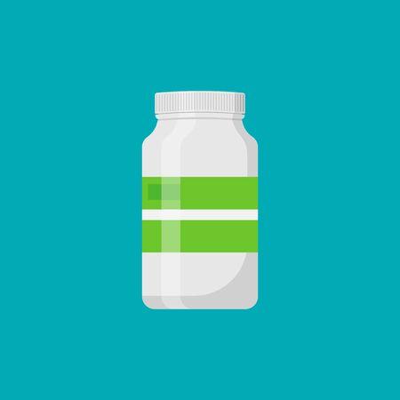 Plastic bottle medical isolated on white background. Vector illustration.