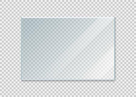 Glasfenster isoliert auf weißem Hintergrund. Vektor-Illustration. Folge 10. Vektorgrafik