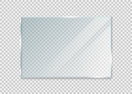 glass windowisolated on white background. Vector illustration. Stok Fotoğraf - 137651825