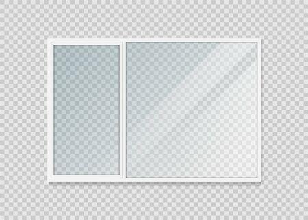 Plastic window isolated on background. Vector illustration.