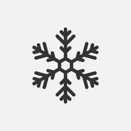 Snowflake icon isolated on white background. Vector illustration. Ilustrace